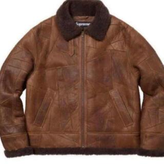 Supreme - supreme patchwork shearling b-3  jacket