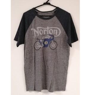 ノートン(Norton)のノートン Tシャツ グレー×ネイビー(Tシャツ/カットソー(半袖/袖なし))