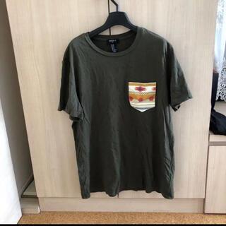 フォーエバートゥエンティーワン(FOREVER 21)のForever21 Tシャツ メンズ カーキ M(Tシャツ/カットソー(半袖/袖なし))