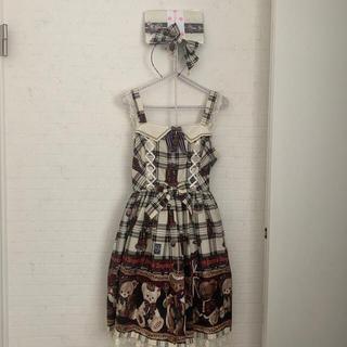Angelic Pretty - アンジェリックプリティ British bear ジャンパースカートセット