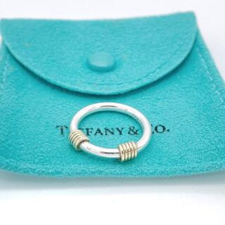 Tiffany & Co. - 美品 希少 ティファニー ダブル ゴールド リング 指輪 XC31