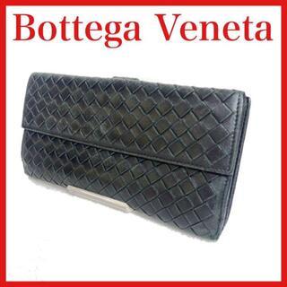 ボッテガヴェネタ(Bottega Veneta)のBottega Venetaボッテガヴェネタ 長財布 レザー 黒(長財布)