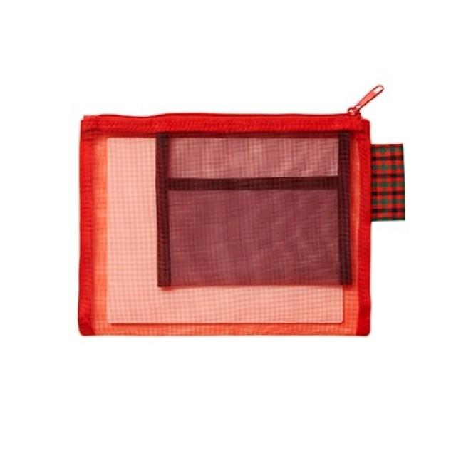 familiar(ファミリア)のファミリア メッシュポーチS RD レディースのファッション小物(ポーチ)の商品写真