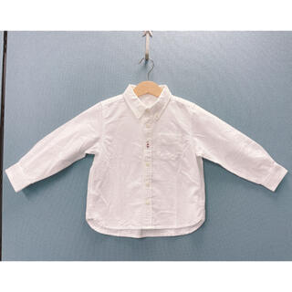 ムジルシリョウヒン(MUJI (無印良品))の未使用美品♡無印良品♡ボタンダウンシャツ100センチ(ブラウス)