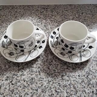 ARABIA - アラビア ブラックパラティッシ コーヒーカップ&ソーサー