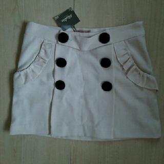 ロジータ(ROJITA)の(たたみじわあり)Rosita ロジータ 白 黒 モノトーン ボタン スカート(ミニスカート)