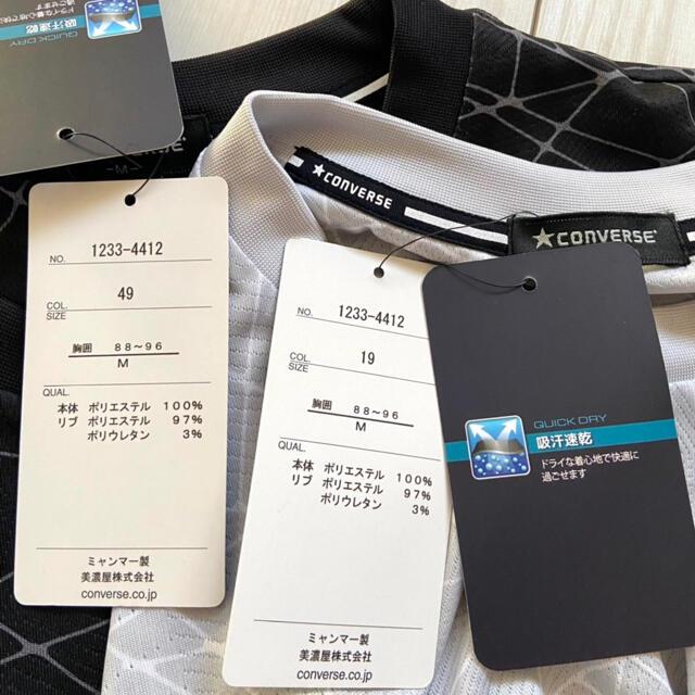 CONVERSE(コンバース)の新品 converse メンズ 吸水速乾 Tシャツ M 半袖 まとめ売り メンズのトップス(Tシャツ/カットソー(半袖/袖なし))の商品写真
