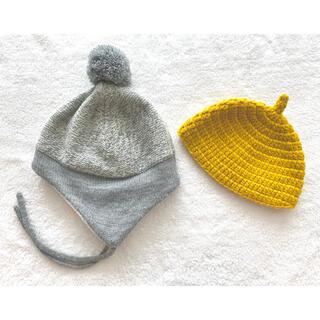 エイチアンドエム(H&M)の耳あて付きボンネットとどんぐり帽子の2点セット(帽子)