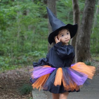 ハロウィン 魔女ワンピースセット(衣装一式)