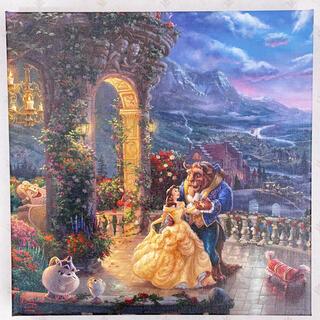 ディズニー(Disney)のトーマスキンケード ディズニー 美女と野獣② 絵画 キャンバス(絵画/タペストリー)
