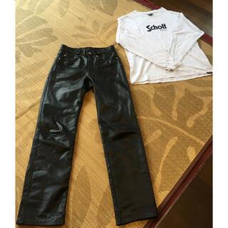 schott - SCHOTT  革パンツ30インチ&unglid❎SCHOTTコラボロンT