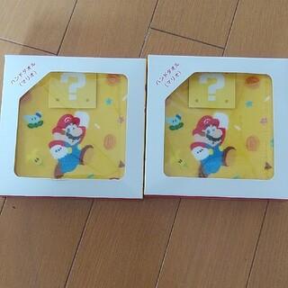ニンテンドウ(任天堂)のマリオ ハンドタオル 2枚セット(タオル)