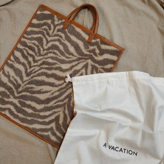 L'Appartement DEUXIEME CLASSE - 【A VACATION】19AW FAN ANIMAL トートバッグ