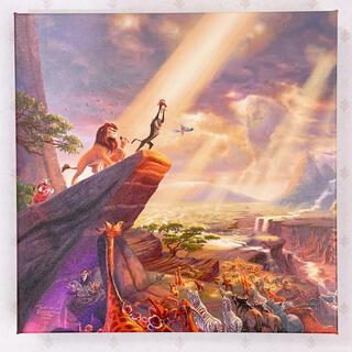 ディズニー(Disney)のトーマスキンケード ディズニー ライオンキング ウォールアート キャンバス 絵画(絵画/タペストリー)