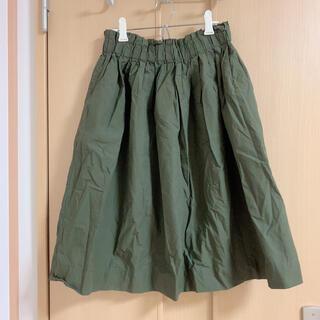 ムジルシリョウヒン(MUJI (無印良品))のコットンギャザーフレアスカート(ひざ丈スカート)