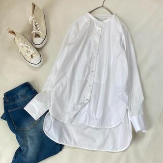 DEUXIEME CLASSE - 美品✨ティッカ シャツ ノーカラー 秋服 冬服 長袖 白シャツ ビッグシルエット
