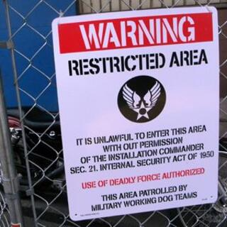 サインボード U.S.エアフォース 警告看板 CA-L05 ビッグ ミリタリー(その他)