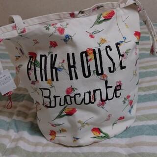ピンクハウス(PINK HOUSE)のピンクハウス♡可愛いい花柄バケツ型トートバッグ新品未使用(トートバッグ)
