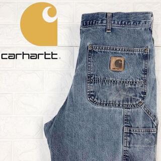 カーハート(carhartt)のカーハート ペインターパンツ ワンポイント革タグ ワイドストレート W34ワーク(ペインターパンツ)