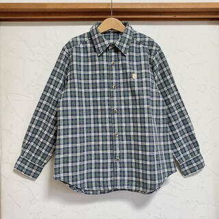 familiar - ファミリア 長袖 チェック シャツ 140 ブラウス トップス
