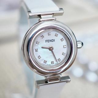 フェンディ(FENDI)の美品✨FENDI 12Pダイヤ付 シェル文字盤 時計✨ティファニー エルメス(腕時計)