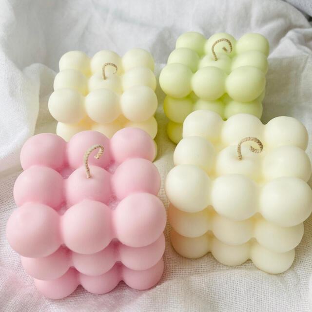 【お試し期間限定価格】ボンボンキャンドル ソイキャンドル 韓国 candle ハンドメイドのインテリア/家具(アロマ/キャンドル)の商品写真
