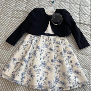 サンカンシオン(3can4on)の美品❣️女の子 フォーマル ボレロ&ワンピース セットアップ(ドレス/フォーマル)