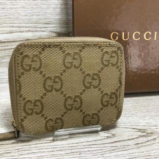 グッチ(Gucci)のGUCCI グッチ  GGキャンパス コインケース 小銭入れ ベージュ系(コインケース/小銭入れ)