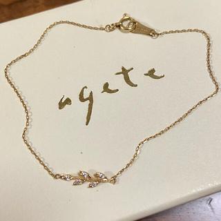 agete - アガット k10 月桂樹 リーフブレスレット