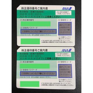 ANA(全日本空輸) - 全日空 ANA株主優待券 2枚 有効期限5月31日まで延長
