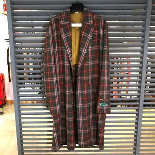 Gucci - 超美品 グッチ チェック柄 オーバーサイズ チェスターコート 46