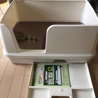 ユニチャーム(Unicharm)のデオトイレ 快適ワイド 本体セット システムトイレ 猫 ねこトイレ ユニチャーム(猫)