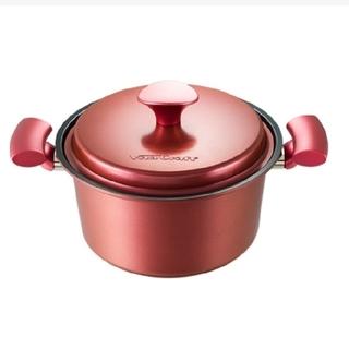 ビタクラフト(Vita Craft)のビタクラフト ライト 21cm 両手鍋 プレミアムレッド 赤 無水鍋(鍋/フライパン)