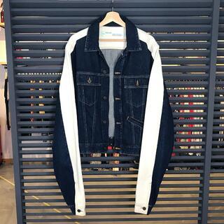 OFF-WHITE - 超美品 オフホワイト デニムジャケット Gジャン ホワイト Sサイズ メンズ