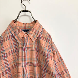 Ralph Lauren - 90s古着 ラルフローレン 長袖BDシャツ M 大きめ チェック オーバーサイズ