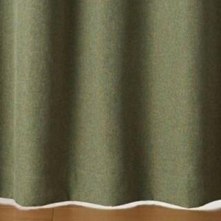 ムジルシリョウヒン(MUJI (無印良品))の無印良品 遮光カーテン(緑)サイズ : 約横100×縦180cm (2枚セット)(カーテン)
