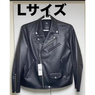 ジーユー(GU)のGU ジーユー フェイクレザージャケットUNDERCOVER +X Lサイズ (ライダースジャケット)