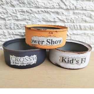 ■多肉植物 リメ缶 リメイク缶 3個セット(プランター)