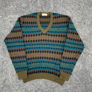 vintage mizuno ノルディック柄 ニットセーター 90's (ニット/セーター)