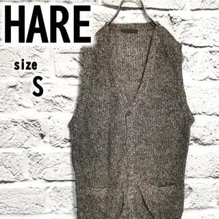 ハレ(HARE)の✨美品 【S】 HARE ハレ メンズ ニットベスト 薄手ニット 春秋向け(ベスト)