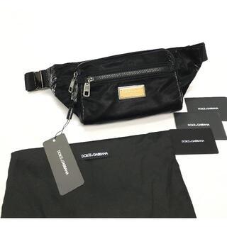 ドルチェアンドガッバーナ(DOLCE&GABBANA)の新品 ドルチェ&ガッバーナ シチリア DNA ロゴプレート ウエストポーチ(ウエストポーチ)