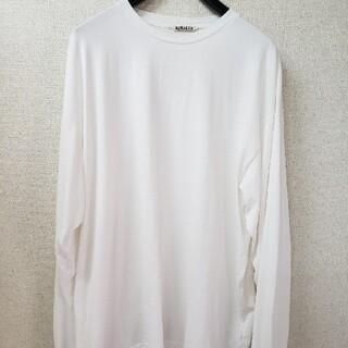 コモリ(COMOLI)のAURALEE ロンT ラスター プレーティング 長袖 Tシャツ(Tシャツ/カットソー(七分/長袖))