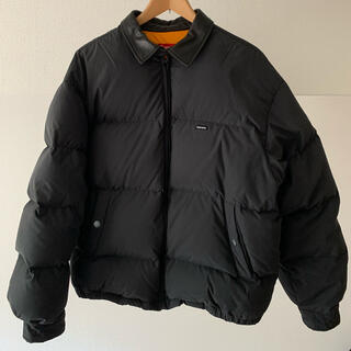 Supreme - Supreme Leather Collar Puffy Jacket L