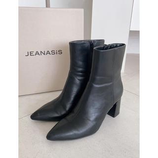 ジーナシス(JEANASIS)のJEANASIS♦︎ジーナシス♦︎チャンキーヒール ショートブーツ黒(ブーツ)
