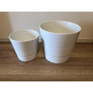 イケア(IKEA)の新品 IKEA イケア  ムスコット 鉢カバー 白 2個セット(その他)