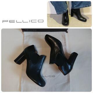 ペリーコ(PELLICO)の定価62700円 新品 ペリーコ 新木型 セミスクエアトゥブーツ 36.5(ブーツ)