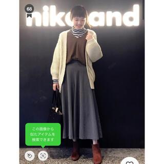 ニコアンド(niko and...)の【新品】niko and フレアミドルパンツ (カジュアルパンツ)