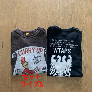 W)taps - HUMANMADE  curry up とwtaps heraldry Tシャツ