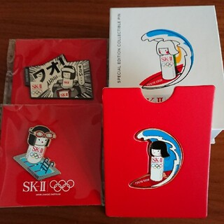 エスケーツー(SK-II)のSK-II オリンピック ピンバッジ【おまけ付き】(バッジ/ピンバッジ)
