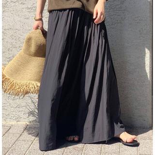 ドゥーズィエムクラス(DEUXIEME CLASSE)の極美品 AP STUDIO サテンギャザースカート(ロングスカート)